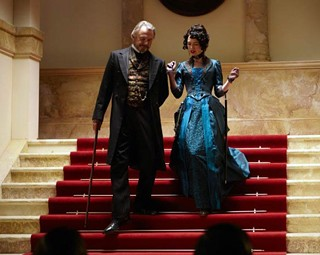 Sam Neill and Lena Headey in The Adventurer: The Curse of the Midas Box