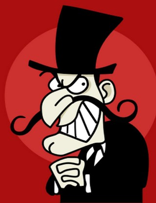 Snidely Whiplash: No known relationship to the county judge campaign, but a real bad guy