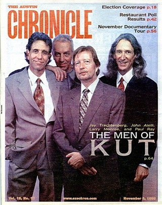 'The Men of KUT,' 1998: (l-r) Jay Trachtenberg, John Aielli, Larry Monroe, and Paul Ray