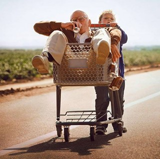 Family bonding: Johnny Knoxville and Jackson Nicoll in Jackass Presents: Bad Grandpa.