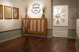 Exhibition view of Wood Home, a solo show by artist/carpenter David Clark