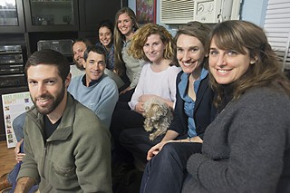 East Feast Food Forest organizers (l-r): Jesse French, Mitch Wright, Eric Goff, Brianna Merrill, Jessica Hildreth, Jordi Dell, dog Charlie, Elizabeth Walsh, and Jodi Lane