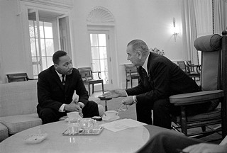 President Lyndon Baines Johnson and Martin Luther King, Dec. 3, 1963