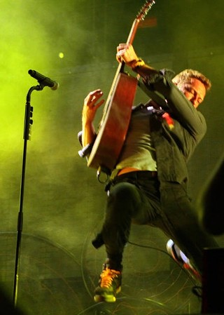 Chris Martin leading Coldplay at ACL Fest 2011