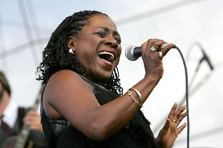 Sharon Jones in 2008 at Bonnaroo.
