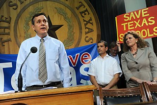 Allen Weeks speaks at a Save Texas  Schools press conference in February 2012.