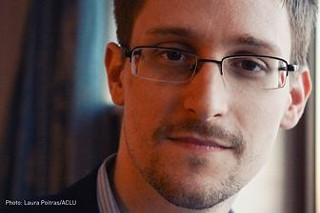 Edward Snowden, appearing at SXSW Interactive on Monday via videoconference