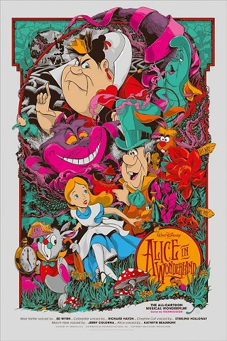 Ken Taylor's take on Disney's Alice in Wonderland for the new Mondo/Oh My Disney show Nothing's Impossible