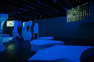 <i>AC/AC and the Climate Controllers</i> (detail). Installation view, <i>CATALIN</i>.