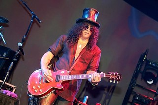 Slash performing at the Austin Convention Center last fall for Dell World.