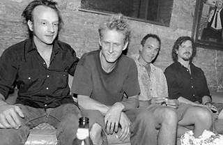 The Greatest Gift: Scratch Acid – David Yow, Rey Washam, Brett Bradford, and David Sims – backstage at Stubb's for a Jesus Lizard show in 1998