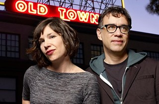 Carrie Brownstein and Fred Armisen not biking