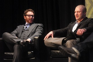 Napster's Sean Parker (left) and Shawn Fanning during their SXSW Interview in 2012