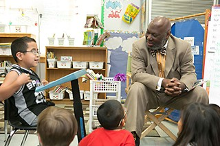 Texas Education Commissioner Michael Williams at Zavala
