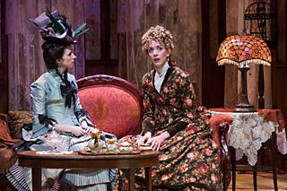 Room of their own: Austin Critics Table Award nominees Amy Downing (l) and Jill Blackwood in the top-honored <i>In the Next Room, or The Vibrator Play</i>