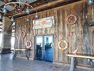 Schlitterbahn SPI's Sea4Ever restaurant is rigged to the hilt with salvaged ship parts and reclaimed Bastrop timber.
