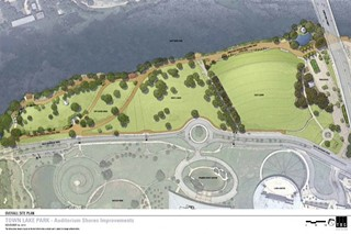 There's a move afoot to rename Auditorium Shores' eastern section at right Vic Mathias Shores