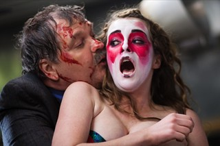 Meat Loaf and Allie MacDonald in a scene from 'Stage Fright.'