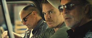 (l-r) Sam Shepard, Michael C. Hall, and Don Johnson in <i>Cold in July</i>