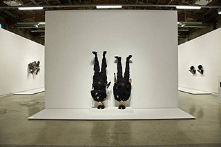 <i>Frank and Jamie</i> (2002), by Maurizio Cattelan, installation view