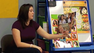 Jennifer Atkinson, a third grade teacher at Cunningham Elementary School, asks students for their input in a scene from