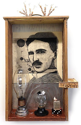 <i>Tesla With Crooke's Radio-meter</i>, by Cathy Savage