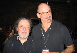 Tommy Ramone (left) and Cary Baker