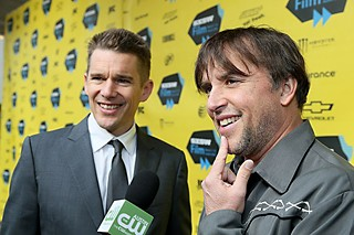 Ethan Hawke and Richard Linklater at the SXSW 2014 premiere of <i>Boyhood</i>