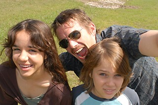(l-r) Lorelei Linklater, Ethan Hawke, and Coltrane