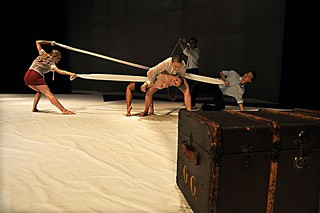 ARCOS Dance Company members performing <i>The Warriors: A Love Story</i>
