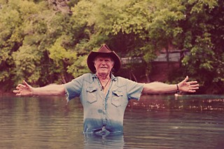 Billy Joe Shaver baptized in Barton Springs, 2012