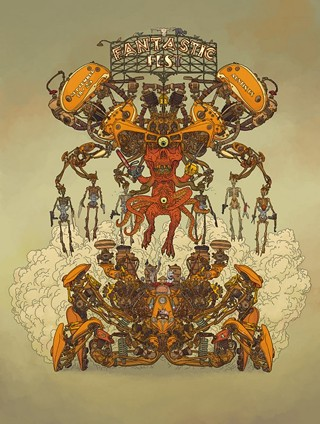 The official Fantastic Fest 2014 poster from mighty comic maniac Geoff Darrow