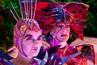 Melissa Vogt-Patterson as Octia and Eryn Gettys as Karnika, from <i>Octia of the Pink Ocean</i>