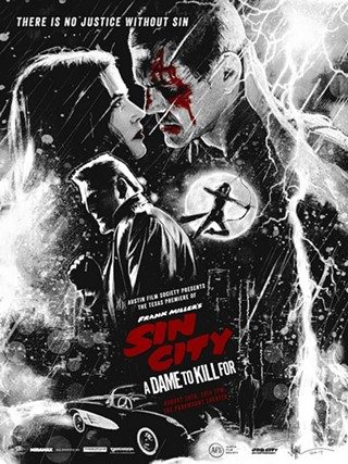 A poster to kill for: Odd City and Paul Shipper debut this fundraising Sin City: A Dame to Kill For print for the Austin Film Society