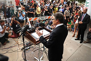 Gov. Rick Perry's press conference, following his indictment.