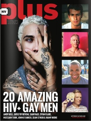 Greg'ry Revenj on the cover of HIV Plus Magazine