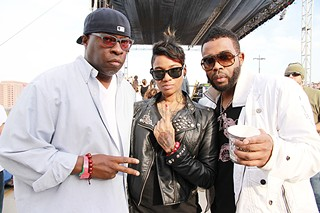 Three of a Kind: Jean Grae and Pharoahe Monch (right) with drummer Vince Wilburn Jr. at SXSW 2012