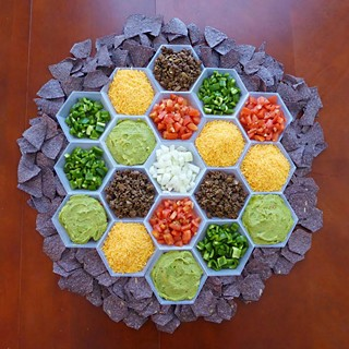 A nacho map from the <i>Settlers of Catan</i> cookbook