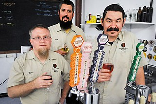 Eric Lowe (l), Evan Whitehead, and Mike Simmons of Meridian Hive Meadery