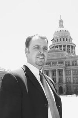 Randall Ellis, executive director of the  Lesbian Gay Rights Lobby of Texas, has led the charge against anti-gay bills this session.
