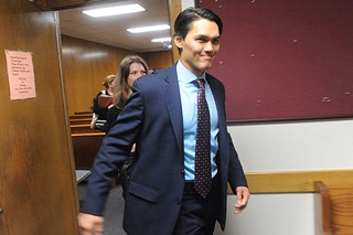 Antonio Buehler leaves the courtroom  after being acquitted.
