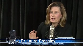 Laura Pressley pays a visit to the set of InfoWars.
