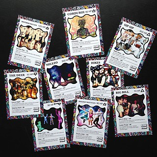 Raw Paw band trading cards