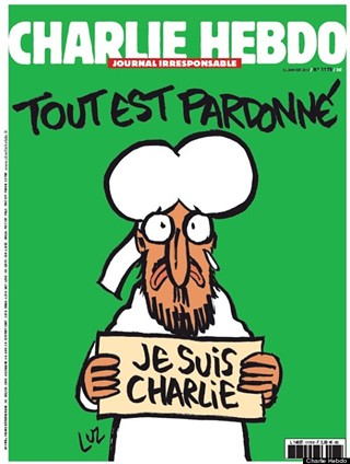 The cover of the edition of French satire paper, Charlie Hebdo released in the wake of the killings