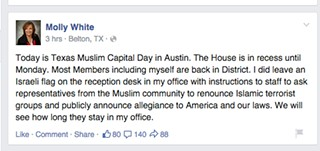 Rep. Molly White Not Quite Sure Who's an American
