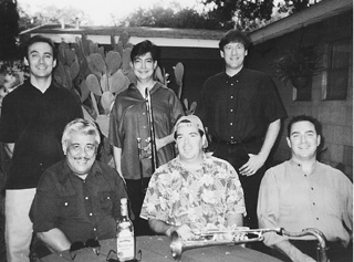 Who You Calling Vato, Vato? Los Jazz Vatos: (standing) Terry Bowness, Freddie Mendoza, Brad Taylor, (seated) Ernie, Jimmy Shortell, Steven Vague