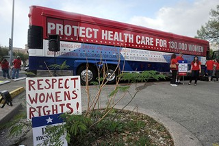 The Planned Parenthood Women's Health Express took to the road in 2012 to urge GOP officials to stop playing politics with women's health care.