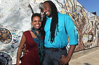 Naya Jones (l) and Kevin Thomas of Food for Black Thought