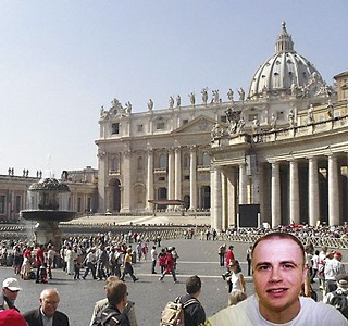 Robert Pruett visiting the Vatican