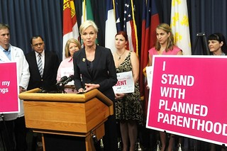 Cecile Richards of Planned Parenthood addresses a crowd at the Capitol in 2011. Richards publicly refuted the latest claims against the provider.